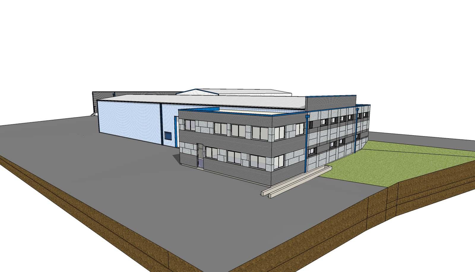 Construction extension et restructuration de bâtiments industriels