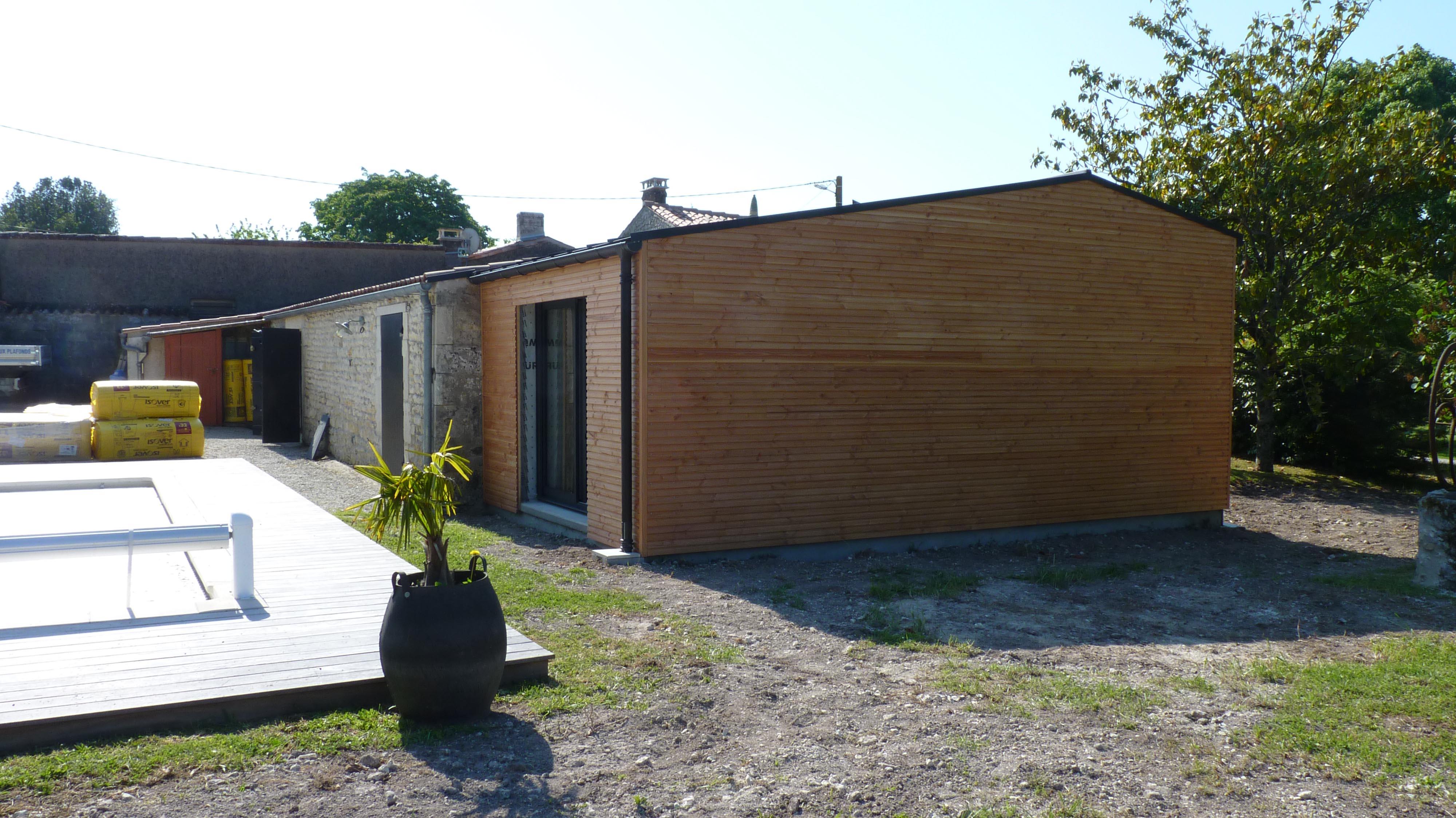 Extension Habitation construction d'une extension à une maison d'habitation à barzan
